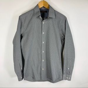 Ben Sherman Black White Check Button Up Shirt S